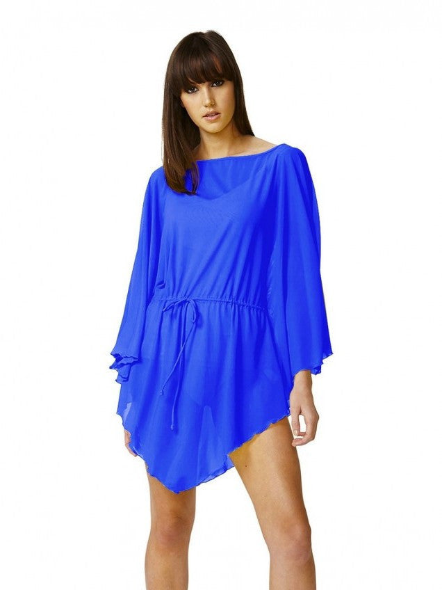 Moontide Blue Mesh Kaftan - Let's Beach