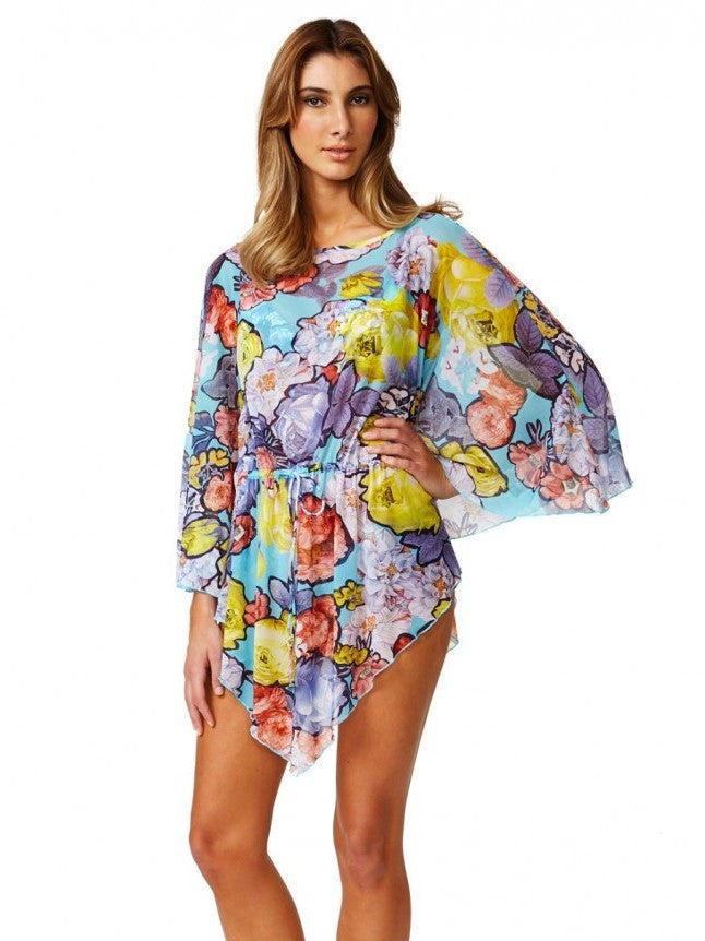 Bare Essentials Cover Up Moontide Victory Mesh Kaftan