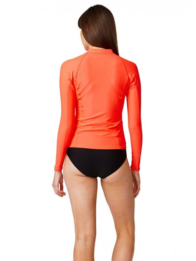 Piha Long Sleeve Ruby Rashguard - Let's Beach