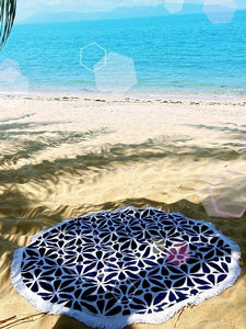 Flower Power Round Beach Towel - Let's Beach