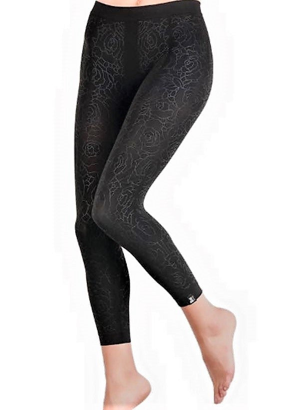 Dermofibra Shaping Leggings Flower Print - Let's Beach