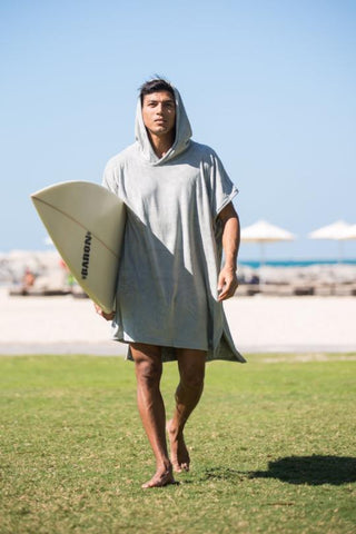 Grey Poncho Towel - Let's Beach