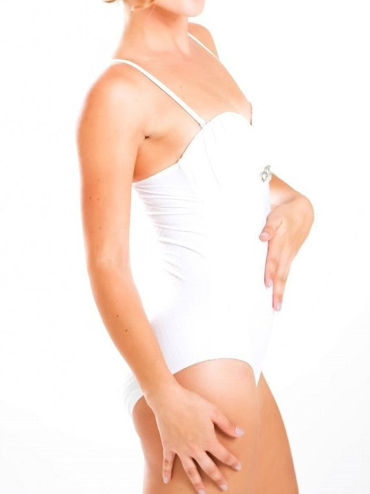 Chelly One-piece White Embellished One-Piece Swimsuit