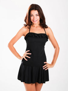 Frill Black Skirted Tankini - Let's Beach