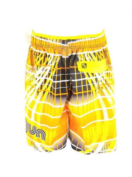 Yellow Retro Print Shorts - Let's Beach