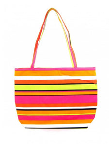 Orange Stripes Beach Bag - Let's Beach