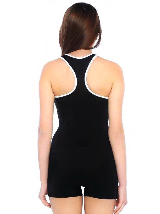 Let's Beach Burkini Sport Style One-piece Swimsuit