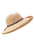Let's Beach Hat Straw hat with ribbons