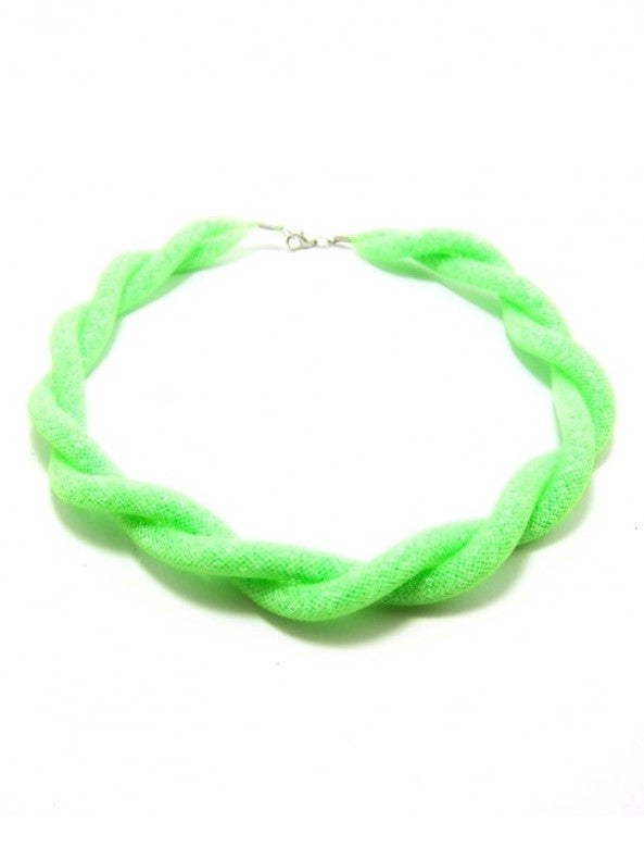 Let's Beach Jewelry Green Braided Necklace