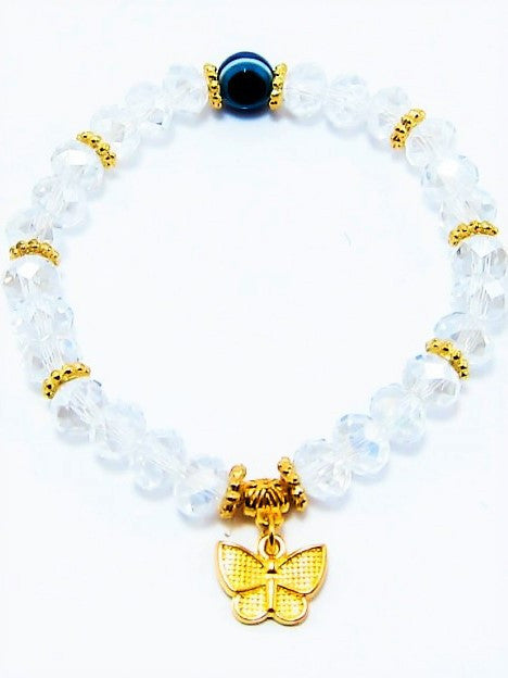 Let's Beach Jewelry Shining butterfly pendant bracelet