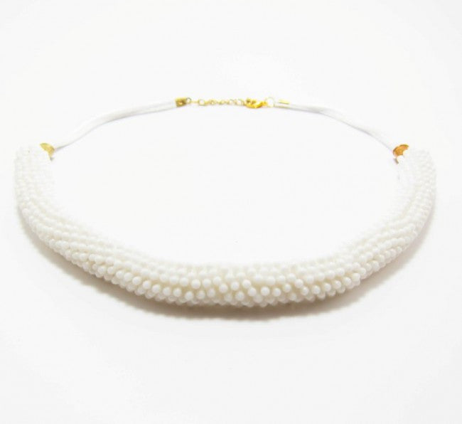 White Volume Necklace - Let's Beach
