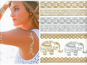 Flash Metallic Tattoo (15x21cm) - Let's Beach