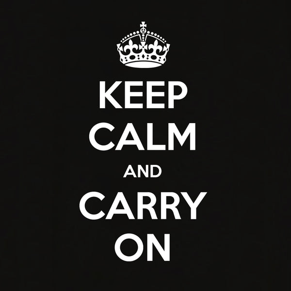 Keep Calm And Carry On T-shirt for Women - Let's Beach