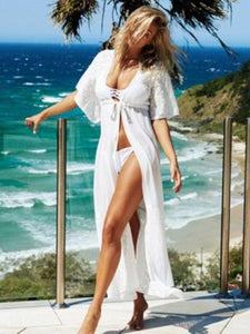 White Lace Beach Dress - Let's Beach