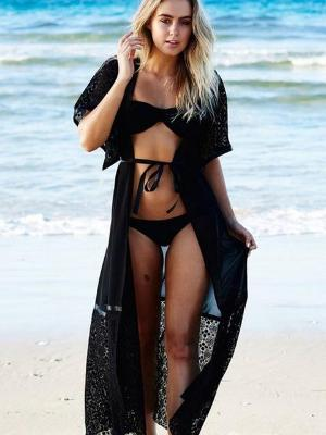 Black Lace Beach Dress - Let's Beach