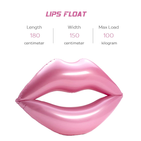 Giant Lips Pool Float - Let's Beach