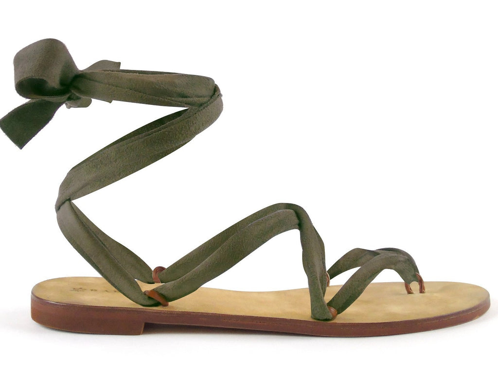 Suede Army Green Ribbon - Let's Beach