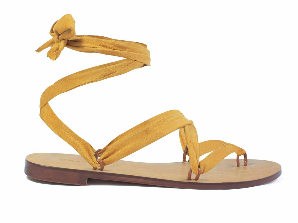 Rarámuri Shoes Suede Mustard Ribbon