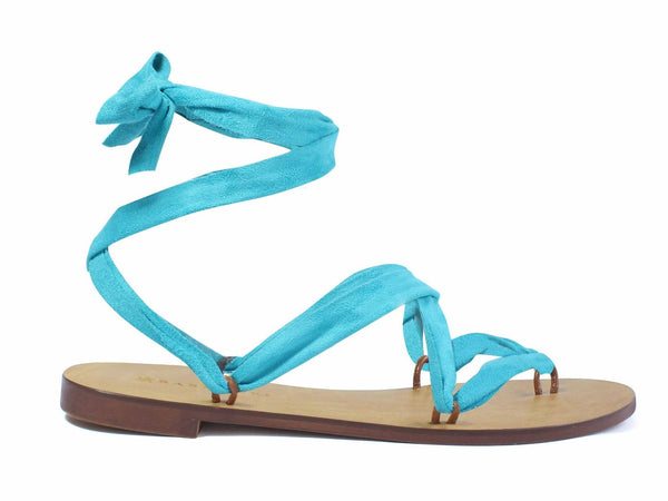 Suede Ocean Blue Ribbon - Let's Beach