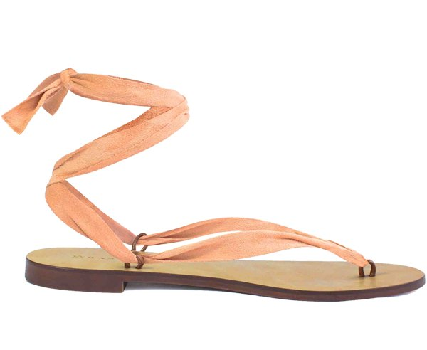 Suede Salmon Ribbon-Shoes-Let's Beach