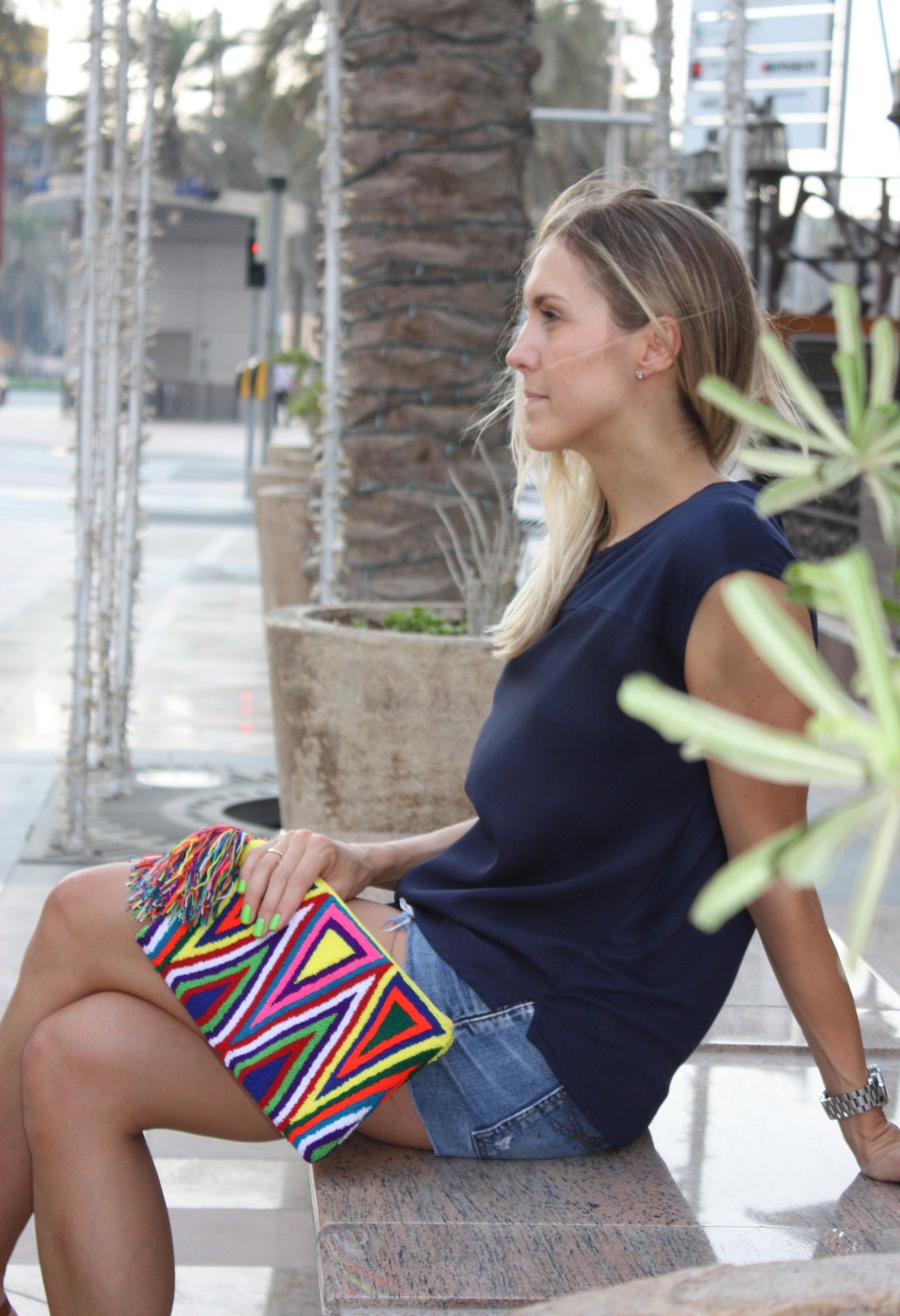 TRIANGLE CLUTCH BAG - Let's Beach