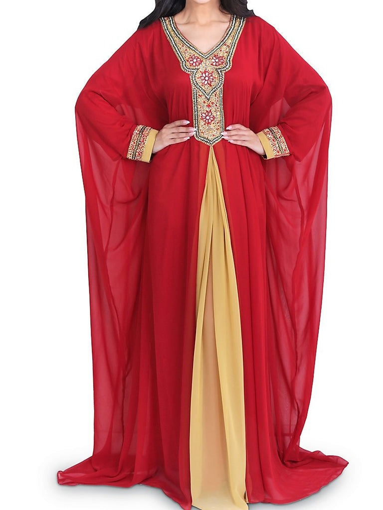 Zahra's Haute Couture Dress Gharam Red Jalabiya