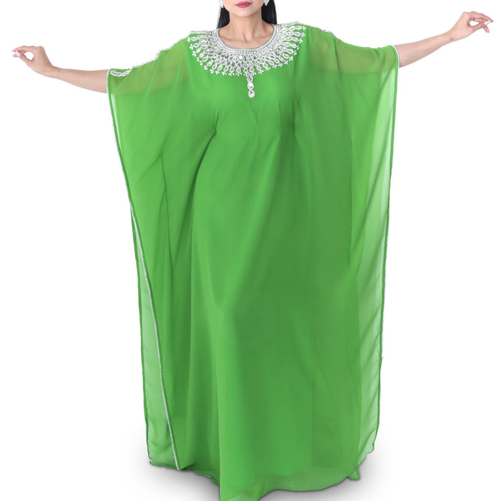 Zahra's Haute Couture Dress Pastel Green Jalabiya