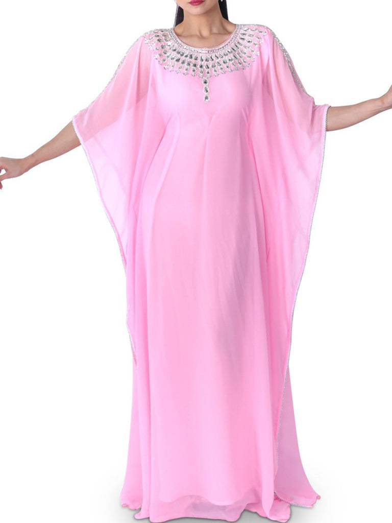 Zahra's Haute Couture Dress Pastel Pink Jalabiya