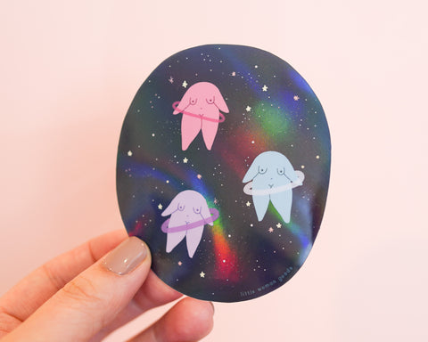 Space Holographic Vinyl Sticker