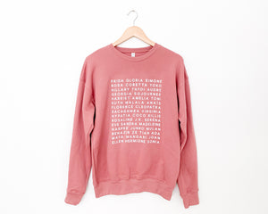 Feminist Heroes Fleece Sweater