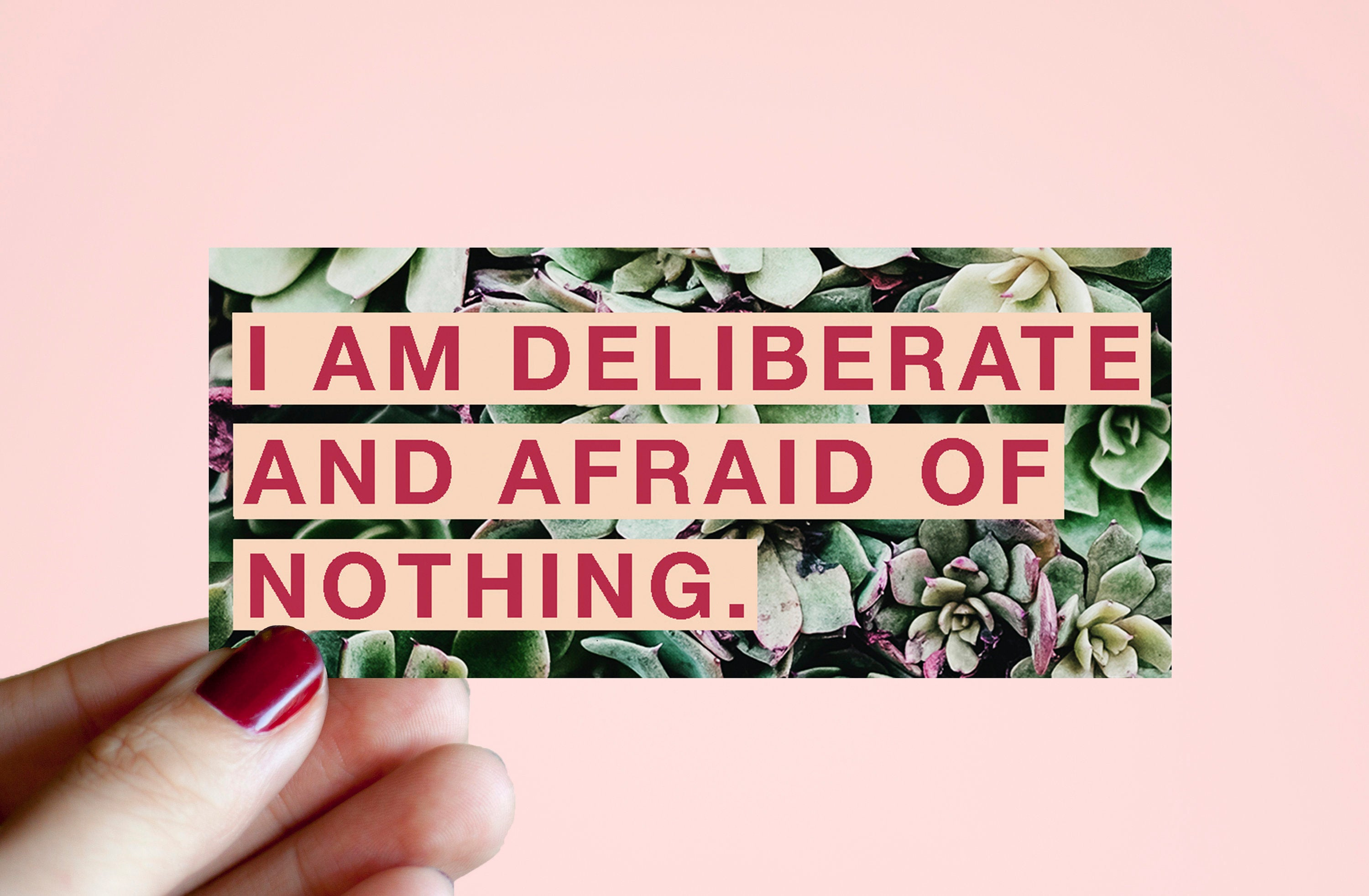 "Feminist Vinyl Sticker Audre Lorde- ""I am deliberate and afraid of nothing"" Illustrated Inspirational Quote Text Weatherproof Decal Laptop"