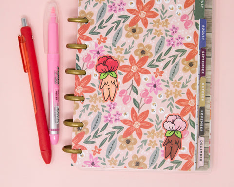 Flower Child Feminist Stickers- Vinyl Stickers Waterproof Laptop Stickers Planner Stickers Journal Stickers Floral Mini Sticker Sheet