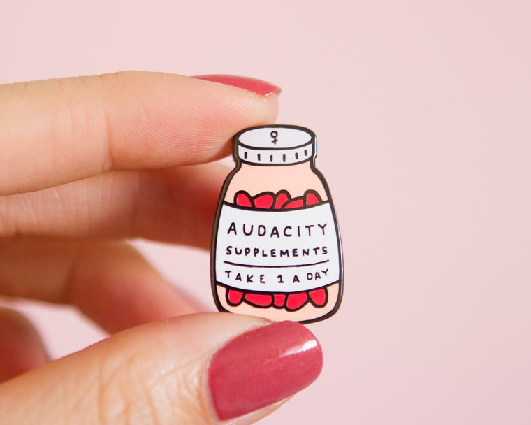 Audacity Supplements Enamel Pin