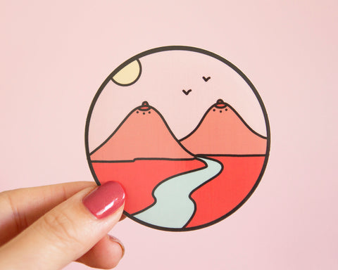 Feminist Vinyl Sticker- Boob Mountains Landscape Desert Landscape Laptop Sticker Planner Sticker