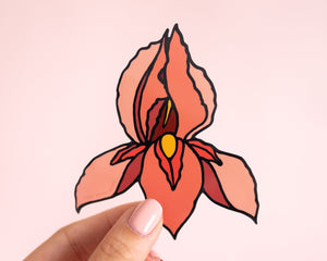 Feminist Enamel Pin Pussyflower- Vagina Pin Flower Feminist Gift Women's Rights Reproductive Rights Bridesmaid Bachelorette Gift Girl Power