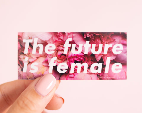 Feminist Vinyl Sticker The Future is Female- 3 inches/ 6 inches Illustrated Weatherproof Laptop Stickers Planner Stickers Journal Stickers