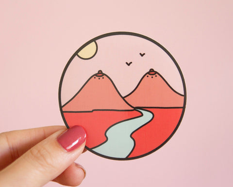 Boob Mountains Enamel Pin- Feminist Pin Gift Women's Rights Reproductive Rights Bridesmaid Bachelorette Gift Girl Power Landscape Minialist