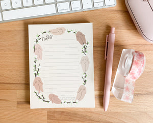 Feminist Notepad- Cute Floral Stationery Planner Accessories Floral Notes To do Paper A6