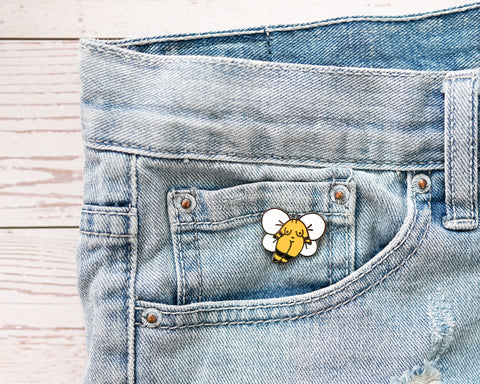 Bumblebee Girl Enamel Pin- Don't Let the Bastards Get You Down Motivational Inspirational Quote Lapel Pin  Floral Girl Power