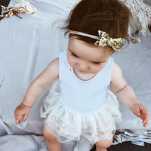 """SIENNA"" METALLIC GLITTER BOW HEADBAND/CLIP (multiple colours)"
