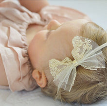 """FRANCESCA"" GOLD EMBROIDERED TULLE BOW"