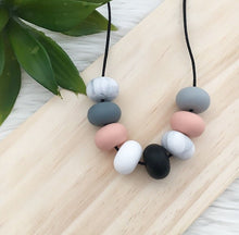 """PEACH MARBLE"" YUMMY MUMMY NECKLACE"