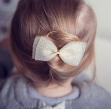 """SAMARA"" GOLD SPARKLE DOUBLE BOW"