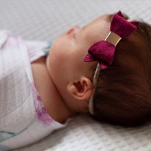 """SIENNA""  CRUSHED VELVET GLAMOUR BOWS (Multiple Colours)"