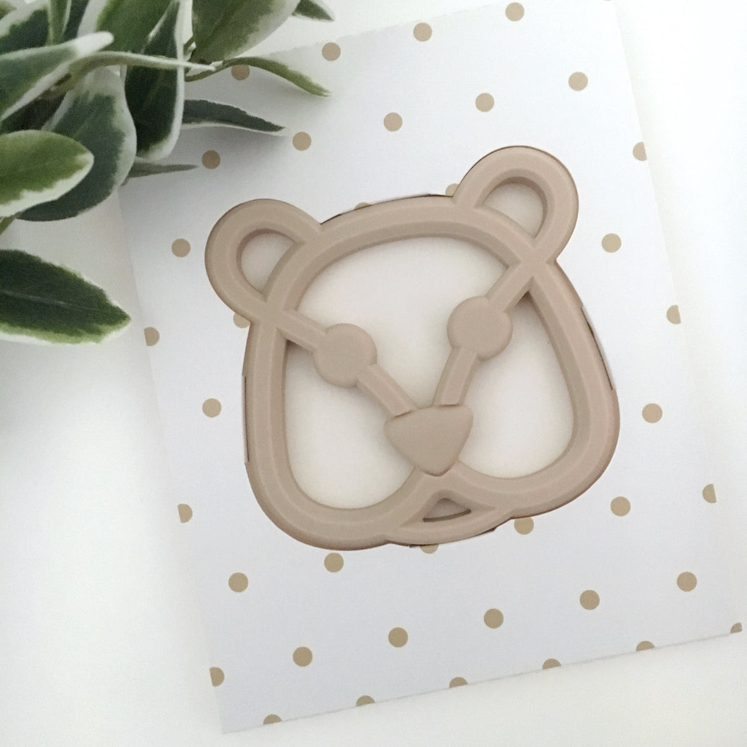 BEAR TEETHER - NATURAL