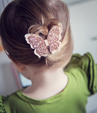 """MILLA"" ROSEGOLD SPARKLE BUTTERFLY BOW HEADBAND/CLIP"