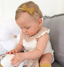 """SIENNA"" LUXE SUEDE BOWS (multiple colours) HEADBAND/CLIP"