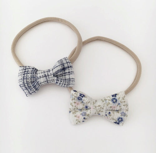 MINI BLUE OR FLORAL BOW