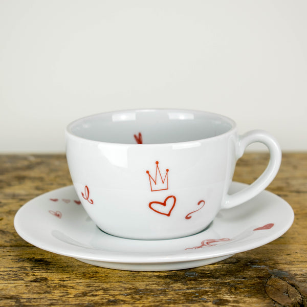Cappuccinotasse mit Untertasse 0,25l - Design Wedding