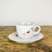 Espressotasse mit Untertasse 0,08l - Design Wedding